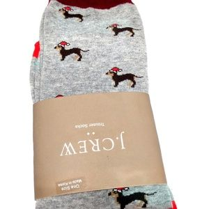 J. CREW FACTORY Holiday-Themed Dachshund Socks